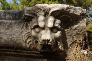 Kunst, Skulptur, Statue, Stein, Löwe, Kopf