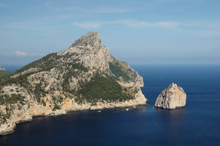 mountain, sea, island, summer time