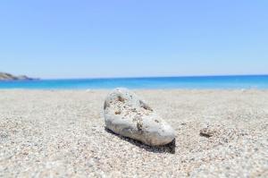 stone, beach, sand, blue sky, rock, summert time, ocean