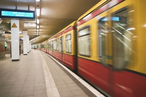 train station, underground, subway, metro station, Berlin, Germa