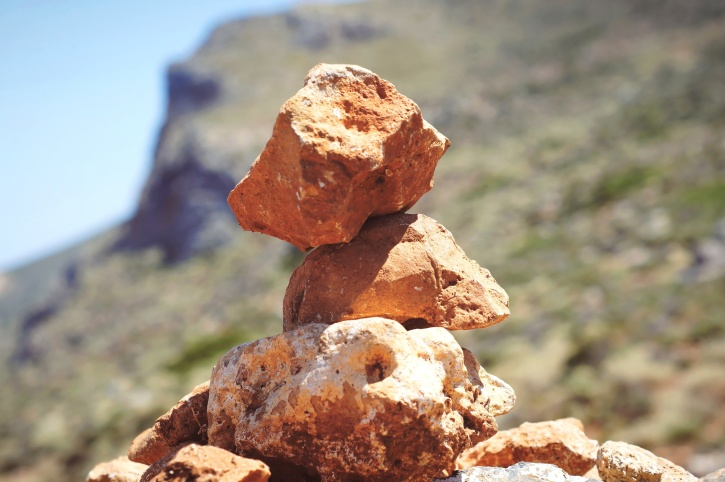 pyramid, red, stones, rock, formation
