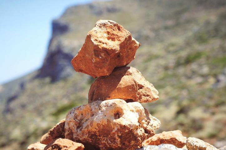 punainen, pyramidi, muodostumista, rock, kivet