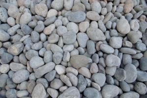 round stones, gray, rocks
