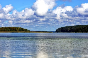 beautifu, nature, paysage, nuages, forêt, île