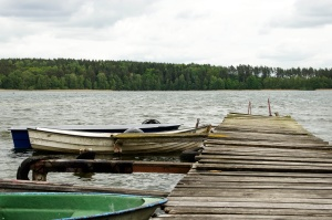 boats, wooden platform