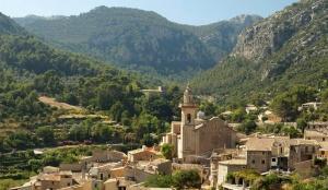 church, old village, valley, travel