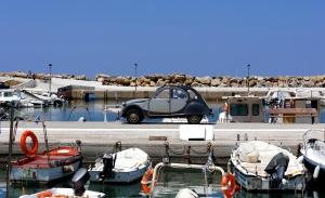 Citroen car, vehicle, beach, travel, seaport