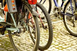 rear wheel, bicycle, bicycle rack
