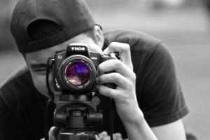 lente, macchina fotografica digitale, tecnologia, zoom, uomo, fotografo
