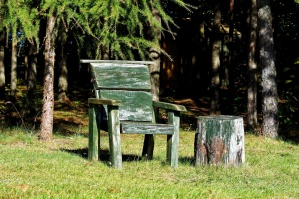 furniture, backyard, old, wooden chair, garden