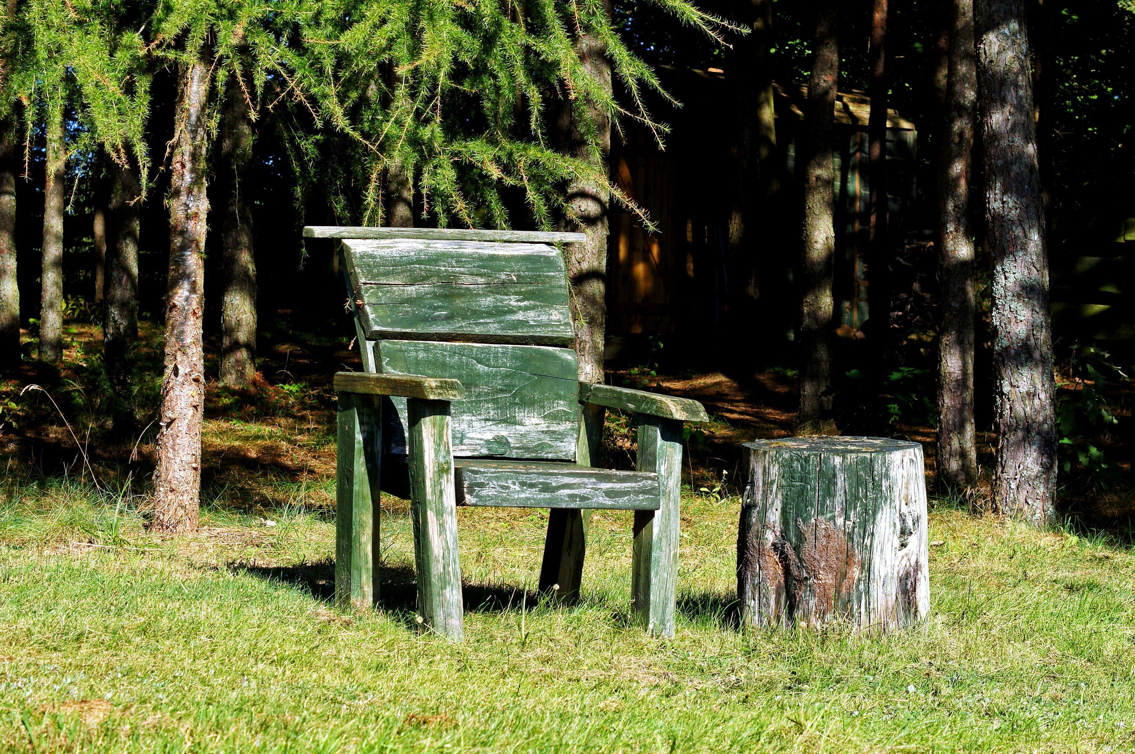 Free Picture Furniture Backyard Old Wooden Chair Garden