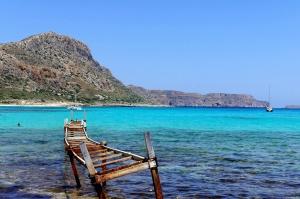 óxido, barco, ruina, mar, verano, horizonte, agua, naturaleza