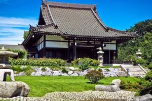 casa ecológica, arquitectura, Asia, templo