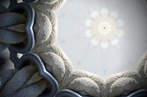 bijele užad, užeta čvor, dizajn, oblik, zvijezda
