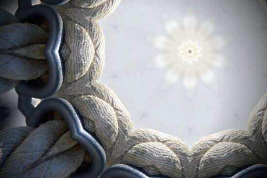 cordes blanches, nœud de la corde, la conception, la forme, étoile