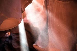 dentro de la cueva, geología, rocas, los rayos del sol, sol