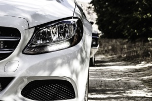 coches de lujo, faros, moderno, estilo, blanco y negro