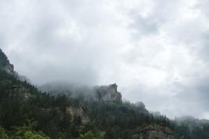 landscape, fog, mountain, nature, clouds, mist