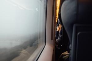 window, aeroplane, travel, vehicle, fog, indoors, transport