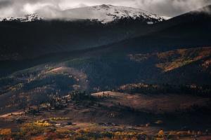 mountain, fog, nature, scenic, snow, nature
