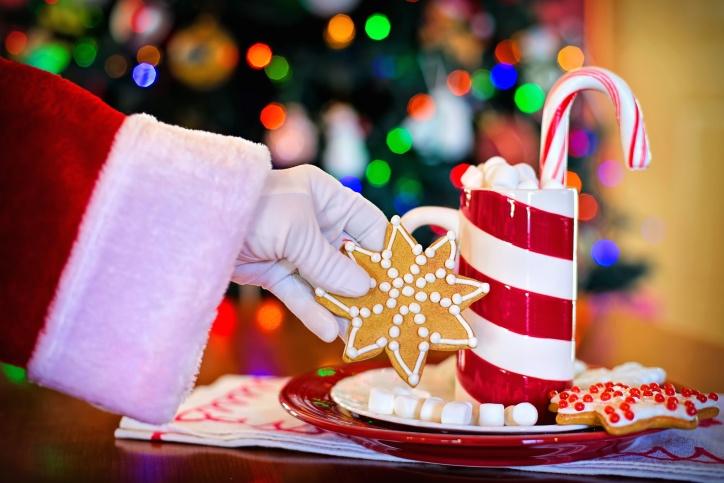 Jul, overraskelse, søt, dessert, feiring, sjokolade, sukker