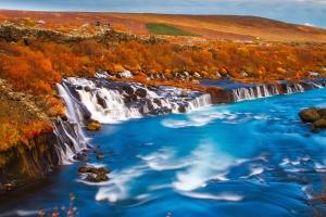 kustlijn, toerisme, bomen, water, watervallen, strand, cliff