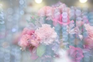 bouquet, flowers, bloor, bloom, petals, blurry image