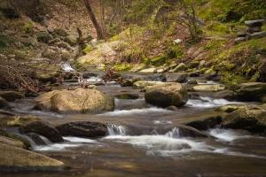 Rocky river, rochas, lindas, riacho, cascata de água