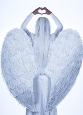 angel wings, girl, woman, faith, religion, white