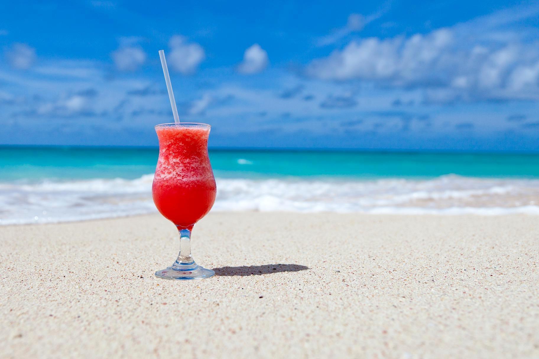Kostenlose Bild: Strand, Getränke, Karibik, Cocktail, trinken ...