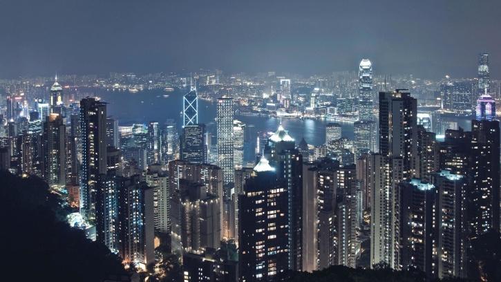 다운 타운, 밤, 도시, 도시, 중국, 홍콩, 도시, 다운 타운
