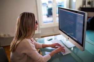 Frau, Programmierer, Internet-Geschäft, Blogging, Business, Codierung, Computer-Programmierung