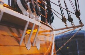 wooden boat, sea, water, sailing, ship, sail, sailboat, sailing