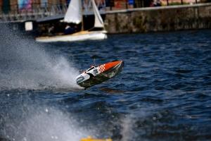 bateau, bateau de vitesse, l'été, la race