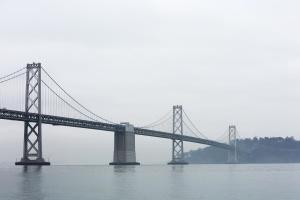 puente, arquitectura, niebla, cielo, mar, puente colgante, río