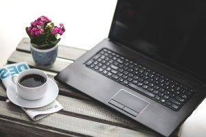 coffee mug, business, tecnology, laptop computer, technology