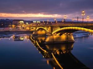 most, rieka, veže, mestský, architektúra, budovy