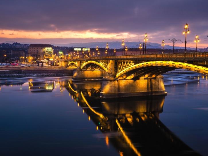 γέφυρα, ποτάμι, Πύργος, αστική, αρχιτεκτονική, κτίρια
