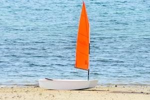 vakáció, víz, hullámok, strand, csónak, nyár, strand, víz