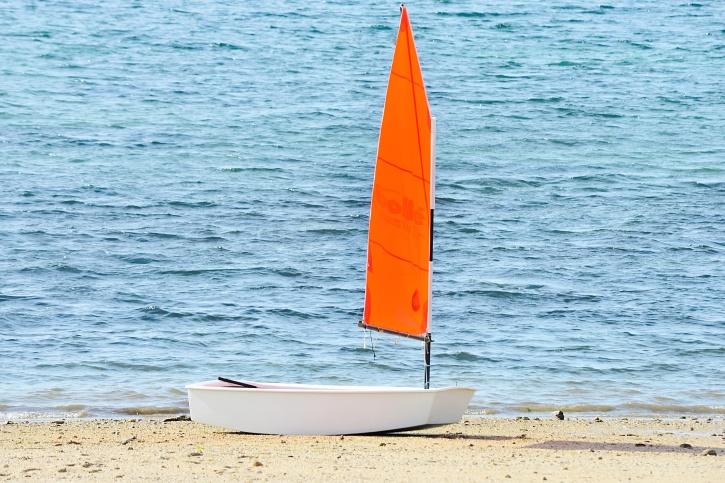 dovolenou, vlny, pláž, loď, léto, pláž, voda