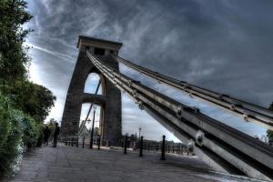 puente, puente colgante, constreuction