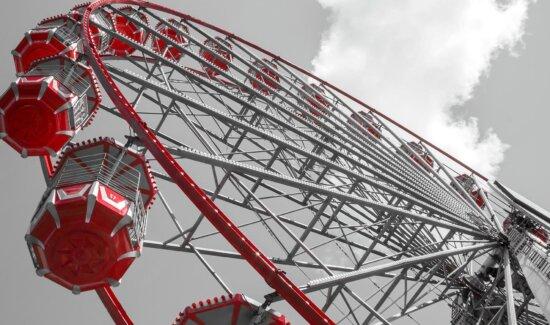carrousel, construction, grande roue, amusement, parc, Machine