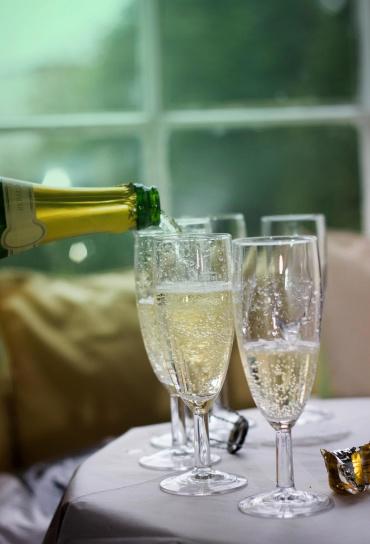 šampaňské, láhve, sklo, svatební, slavnostní