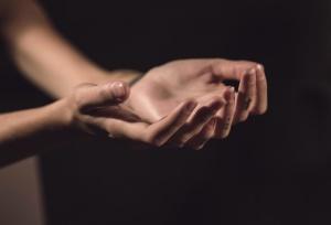 christianisme, Jésus-Christ, la religion, prier, main, sombre, Dieu