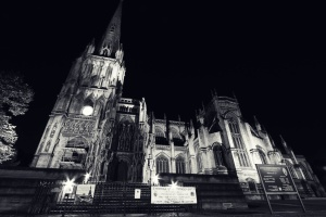 church, night, architecture, exterior