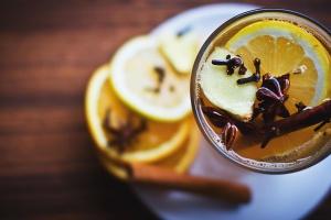 Zimt, Zitrone, Saft, Gewürze, Vanille, trinken