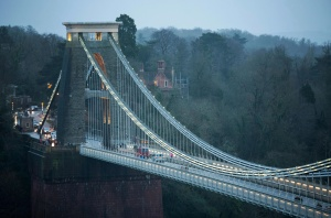 city, town, lights, water, bridge, river, London, England, town