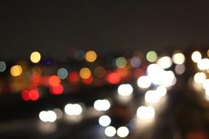 podświetlane, światło, noc, ciemna