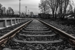 railway, steel, track, train, gravel