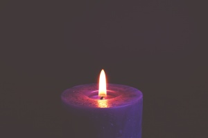 meditation, night, candle, flame, shining, warm, wax